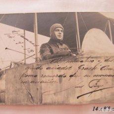 Postales: FOTO POSTAL ANTIGUA 1912 LUIS FOYE PRIMER PILOTO AVION CATALAN FIRMADA Y DEDICADA. Lote 191080487