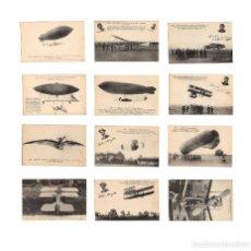 Postales: HISTORIA DE LA AVIACIÓN. ARENÁUTICA.AÉROPLANO. ZEPPELIN .DIRIGIBLE. GLOBO. 44 POSTALES. SIN CIRCULAR. Lote 191506235