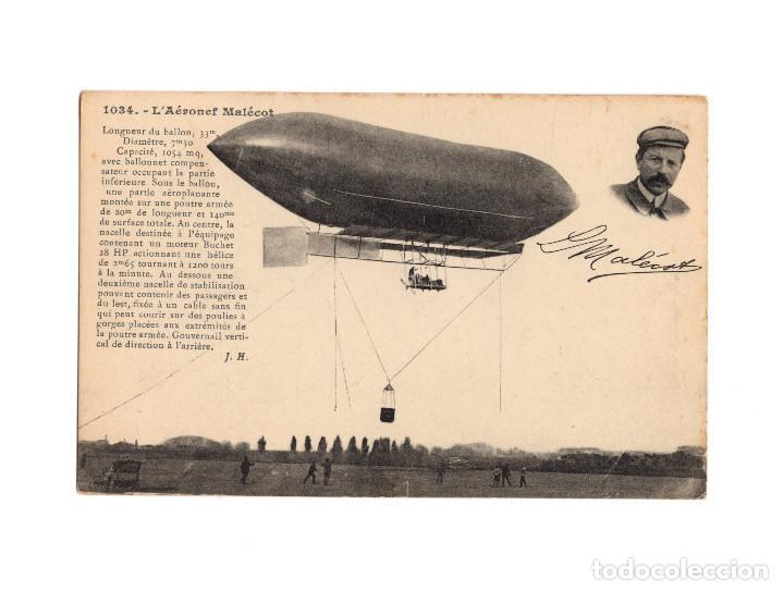 Postales: HISTORIA DE LA AVIACIÓN. ARENÁUTICA.AÉROPLANO. ZEPPELIN .DIRIGIBLE. GLOBO. 44 POSTALES. SIN CIRCULAR - Foto 2 - 191506235