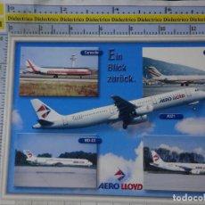 Postales: POSTAL DE AVIONES AEROLÍNEAS. AEROLÍNEA AERO LLOYD ALEMANIA. CARAVELLE A320 DC9 MD83. 1659. Lote 191704773