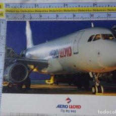 Postales: POSTAL DE AVIONES AEROLÍNEAS. AEROLÍNEA AERO LLOYD ALEMANIA. AIRBUS A320. 1660. Lote 191704805