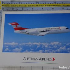 Postales: POSTAL DE AVIONES AEROLÍNEAS. AEROLÍNEA AUSTRIAN AIRLINES. AUSTRIA. FOKKER 70. 1662. Lote 191704887