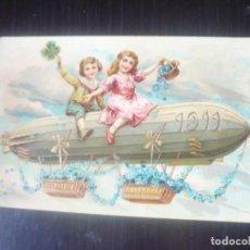 Postales: NIÑAS EN ZEPPELIN-POSTAL CON RELIEVE. Lote 192121965