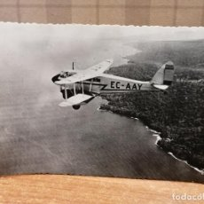 Postales: FOTO POSTAL AVIÓN SOBREVOLANDO DRAGÓN, LÍNEA SANTA ISABEL-BATA. FERNANDO PÓO. SIN CIRCULAR. Nº 61. Lote 194003610
