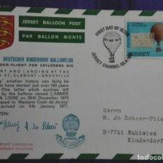 Postales: JERSEY 1973 TARJETA POSTAL ILUSTRADA PARA LA AYUDA DE LOS NIÑOS. Lote 194147843