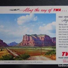 Postales: POSTAL DE LINEAS AÉREAS TWA (TRANS WORLD AIRLINES) SIN CIRCULAR . Lote 194222465
