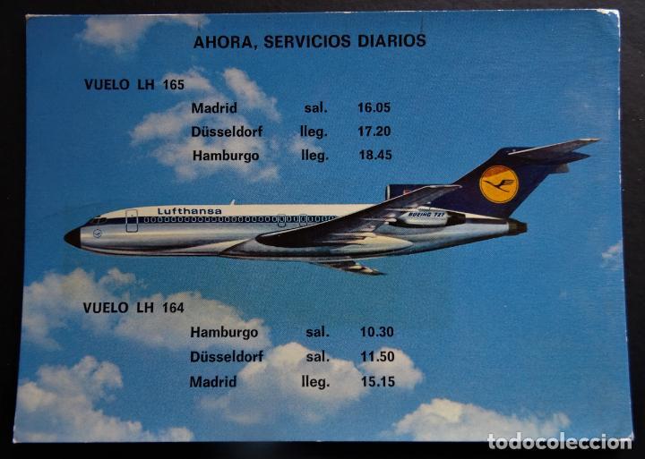 LUFTHANSA BOEING 727 EUROPA JET , POSTAL SIN CIRCULAR (Postales - Postales Temáticas - Aeroplanos, Zeppelines y Globos)