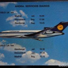 Postales: LUFTHANSA BOEING 727 EUROPA JET , POSTAL SIN CIRCULAR. Lote 194222603