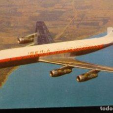Postales: POSTAL IBERIA AVION DOUGLAS DC 8 TURBOFAN. Lote 194342060