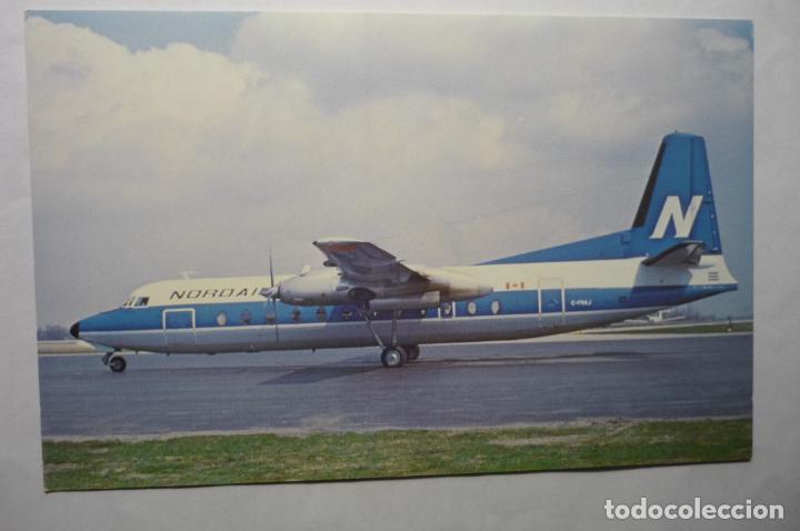 POSTAL AVION NORDAIR -FAIRCHILD-HILLER FH 227 E (Postales - Postales Temáticas - Aeroplanos, Zeppelines y Globos)