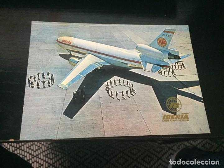 POSTAL DE IBERIA AVION DC 10/30 - LA DE LA FOTO VER TODAS MIS POSTALES (Postales - Postales Temáticas - Aeroplanos, Zeppelines y Globos)