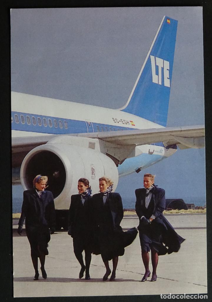 POSTAL DE LA ANTIGUA COMPAÑIA AEREA ESPAÑOLA LTE, BOEING B 757-200.SIN CIRCULAR (Postales - Postales Temáticas - Aeroplanos, Zeppelines y Globos)
