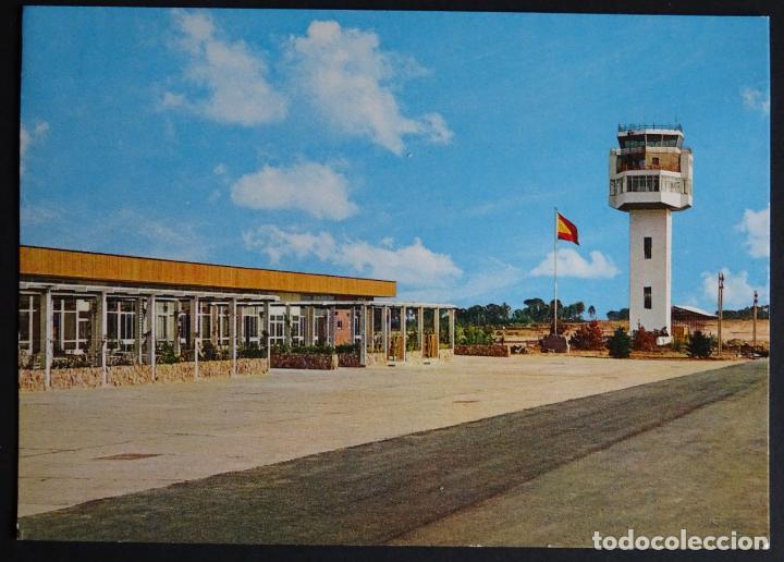 AEROPUERTO DE GIRONA-COSTA BRAVA, ANTIGUA POSTAL SIN CIRCULAR (Postales - Postales Temáticas - Aeroplanos, Zeppelines y Globos)