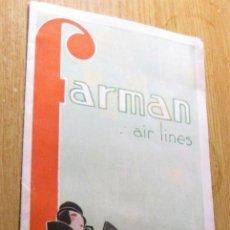 Postales: BONITO CATALOGO FOLLETO PUBLICIDAD FARMAN AIR LINES 1932 AEROPLANO AVIONES LINEAS AEREAS FRANCIA. Lote 194538466