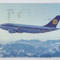 Postales: LUFTHANSA: AIRBUS A310. Lote 195197022