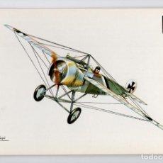 Postales: HISTORIA DE LA AVIACIÓN · FOKKER E III -ESCUDO DE ORO, 1970-. Lote 195197100