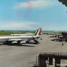 Postales: AVION-FIUMICINO-AEROPUERTO INTERCONTINENTAL DE ROMA-POSTAL DE AVION-(68.175). Lote 195311211