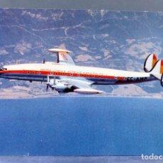 Postales: POSTAL IBERIA LÍNEAS AÉREAS ESPAÑOLAS AVIÓN SUPER G CONSTELLATION CIRCULADA SELLO. Lote 195727217