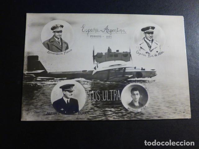 AVION PLUS ULTRA ESPAÑA ARGENTINA FEBRERO 1926 FRANCO RUIZ DE ALDA DURAN Y RADA POSTAL FOTOGRAFICA (Postales - Postales Temáticas - Aeroplanos, Zeppelines y Globos)