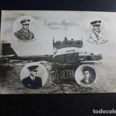 Postales: AVION PLUS ULTRA ESPAÑA ARGENTINA FEBRERO 1926 FRANCO RUIZ DE ALDA DURAN Y RADA POSTAL FOTOGRAFICA. Lote 195847886