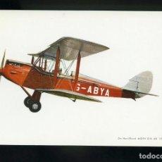 Postales: POSTAL DE AEROPLANO ANTIGUO. DE HAVILLAND MOPH D.H. 1925. EDITADA POR C. Y H.. Lote 195898138