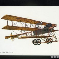 Postales: POSTAL DE AEROPLANO ANTIGUO. AVRO TRIPLANE ROE - 4 1910. EDITADA POR C. Y H.. Lote 195898330