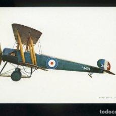Postales: POSTAL DE AEROPLANO ANTIGUO. AVRO 504 - K 1915. EDITADA POR C. Y H.. Lote 195898400