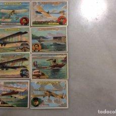 Postales: OCHO CROMOS AVIONES. Lote 197249676