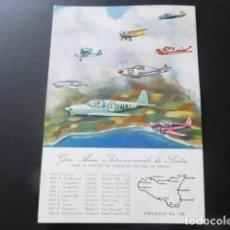 Postales: GIRO AEREA INTERNACIONAL DE SICILIA POSTAL. Lote 197307015