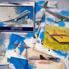 Postales: LOTE 18 POSTALES DE AVIACIÓN AEROFLOT. Lote 197328555