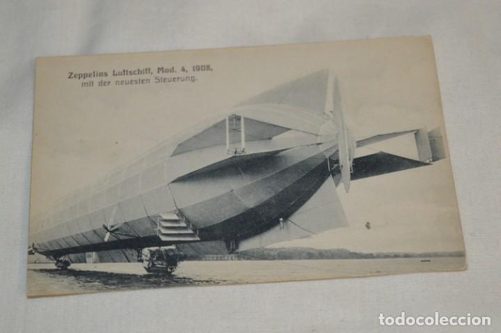 POSTAL ANTIGUA - ZEPPELINS LUFTSCHIFF / MODELO 4 / AÑO 1908 - SIN CIRCULAR ¡MIRA! (Postales - Postales Temáticas - Aeroplanos, Zeppelines y Globos)