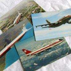 Postales: 4 POSTALES DE AVIONES, IBERIA, AIR CANADA Y AIR PORTUGAL. Lote 198733730