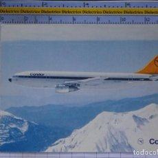 Cartes Postales: POSTAL DE AVIONES AEROLÍNEAS. AVIÓN AIRBUS A300 DE CONDOR. ALEMANIA. 843. Lote 202673738
