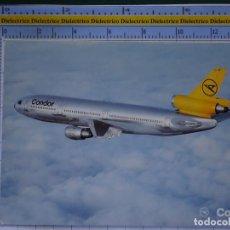Cartes Postales: POSTAL DE AVIONES AEROLÍNEAS. AVIÓN DC10-30. CONDOR. ALEMANIA. 844. Lote 202673846