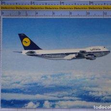 Cartes Postales: POSTAL DE AVIONES AEROLÍNEAS. AVIÓN BOEING 747 LUTHANSA. ALEMANIA. 846. Lote 202674068