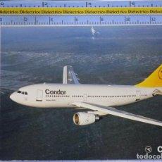 Cartes Postales: POSTAL DE AVIONES AEROLÍNEAS. AVIÓN AIRBUS A310 203 CONDOR ALEMANIA. 851. Lote 202674898
