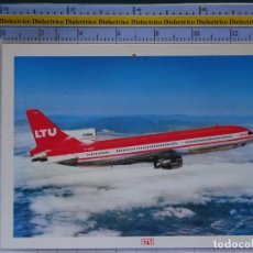 Cartes Postales: POSTAL DE AVIONES AEROLÍNEAS. AVIÓN TRISTAR L-1011 LTU ALEMANIA. 860. Lote 202675578