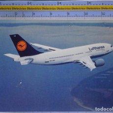 Cartes Postales: POSTAL DE AVIONES AEROLÍNEAS. AVIÓN AIRBUS A310 300 LUFTHANSA ALEMANIA. 862. Lote 202675927