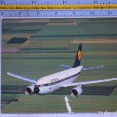 Cartes Postales: POSTAL DE AVIONES AEROLÍNEAS. AVIÓN AIRBUS A310 LUFTHANSA. ALEMANIA. 867. Lote 202676271