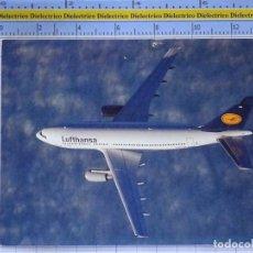 Cartes Postales: POSTAL DE AVIONES AEROLÍNEAS. AVIÓN AIRBUS A310 LUFTHANSA. ALEMANIA. 868. Lote 202676313
