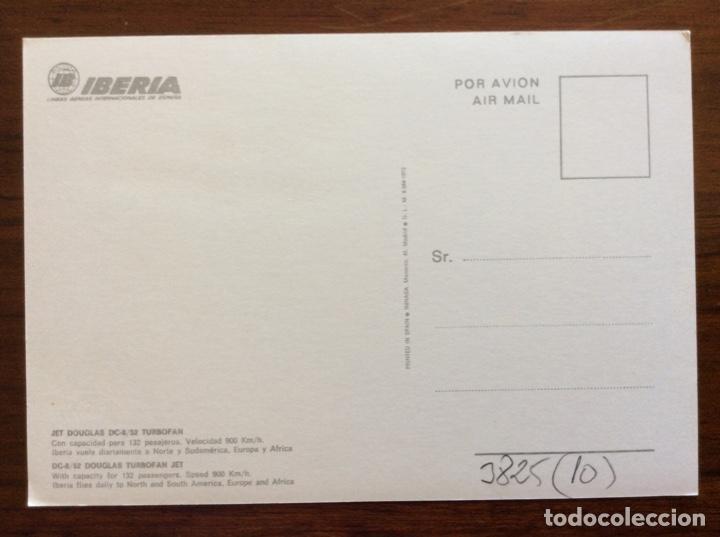 Postales: 10 POSTAL AVIÓN. IBERIA, SPANTAX, SPANAIR. DC8-DC9-CARAVELLE-CONVAIR. AÑOS 60-70 - Foto 2 - 203766986