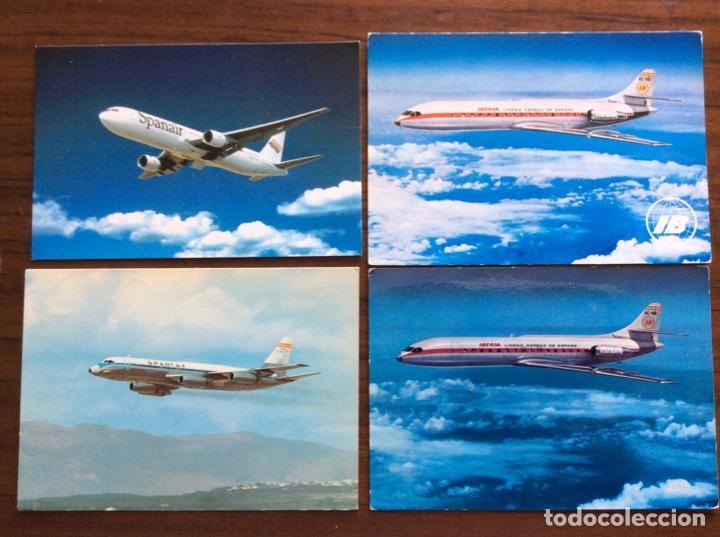 Postales: 10 POSTAL AVIÓN. IBERIA, SPANTAX, SPANAIR. DC8-DC9-CARAVELLE-CONVAIR. AÑOS 60-70 - Foto 3 - 203766986