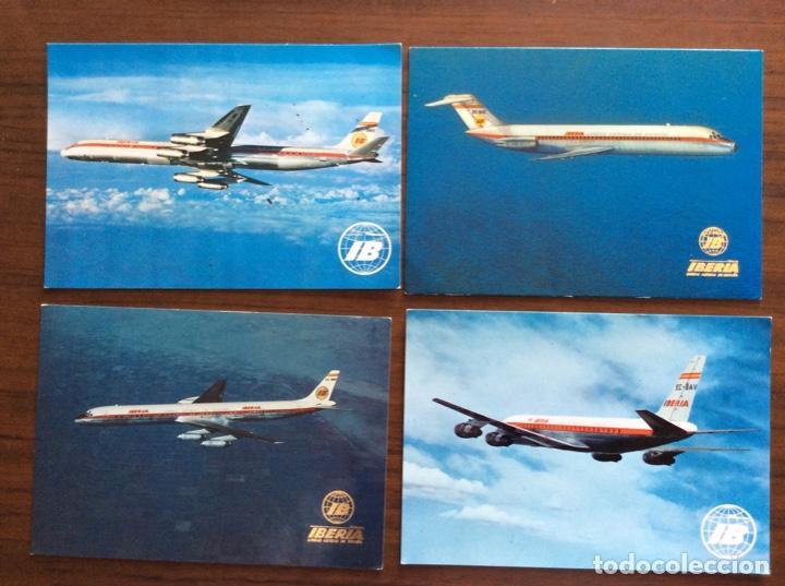 Postales: 10 POSTAL AVIÓN. IBERIA, SPANTAX, SPANAIR. DC8-DC9-CARAVELLE-CONVAIR. AÑOS 60-70 - Foto 4 - 203766986