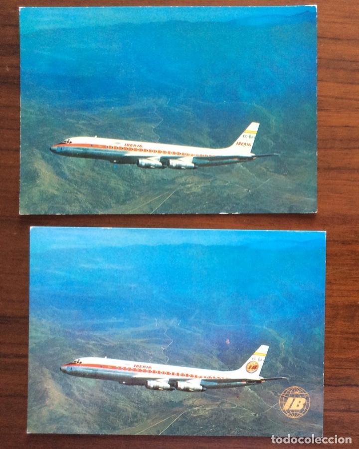 Postales: 10 POSTAL AVIÓN. IBERIA, SPANTAX, SPANAIR. DC8-DC9-CARAVELLE-CONVAIR. AÑOS 60-70 - Foto 5 - 203766986