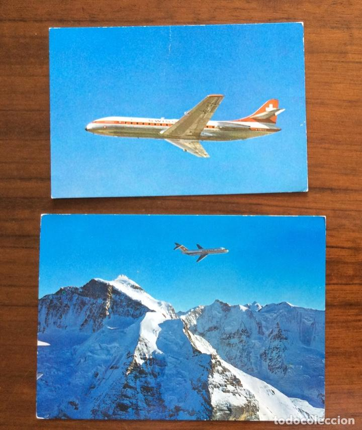 Postales: 6 POSTAL AVIÓN. SWISSAIR. DC9-DC10-CARAVELLE-CORONADO. - Foto 3 - 203767605