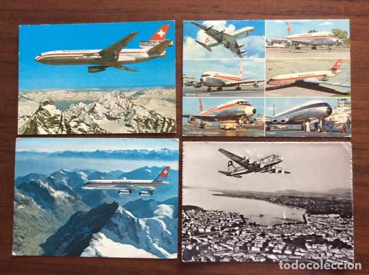Postales: 6 POSTAL AVIÓN. SWISSAIR. DC9-DC10-CARAVELLE-CORONADO. - Foto 4 - 203767605