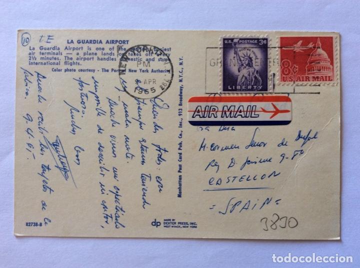 Postales: POSTAL AVIÓN. AEROPUERTO DE LA GUARDIA AIRPORT. USA. ESTADOS UNIDOS. - Foto 2 - 203770443