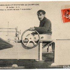 Postales: POSTAL DE AVIONES MUY ANTIGUOS, ENTRE 1909 Y 1914 LOS PRIMEROS AEROPLANOS. Lote 204336675