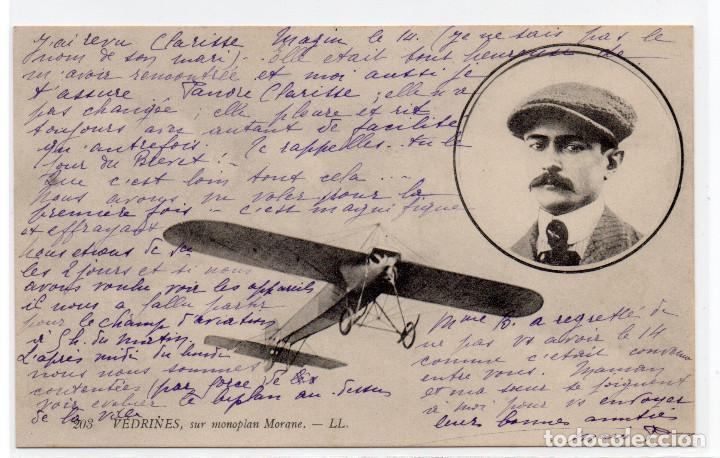 POSTAL DE AVIONES MUY ANTIGUOS, ENTRE 1909 Y 1914 LOS PRIMEROS AEROPLANOS (Postales - Postales Temáticas - Aeroplanos, Zeppelines y Globos)