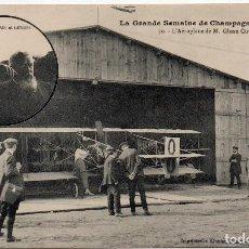Postales: POSTAL DE AVIONES MUY ANTIGUOS, ENTRE 1909 Y 1914 LOS PRIMEROS AEROPLANOS. Lote 204374262